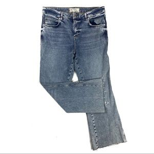 NWOT Free People High Rise Wide Leg Crop Jeans
